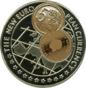 1000 Shillings / 5 Euro cent Netherlands -  revers