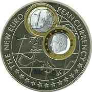 1000 Shillings / Euro Belgium -  revers