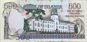 500 Shillings – revers