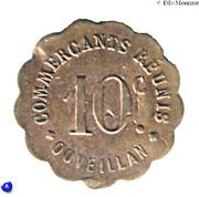10 Centimes - Commerçants réunis - Ouveillan [11] – avers