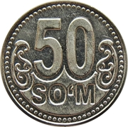 50 Soʻm – revers