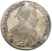 ½ thaler Johann Wenzel – avers