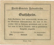 50 Heller (Pabneukirchen) -  revers