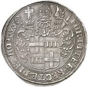 1 Thaler - Theodor Adolph von der Recke – revers