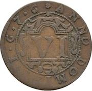 6 pfennig - Ferdinand II. von Fürstenberg – revers