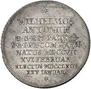 1 Thaler - Wilhelm Anton von der Asseburg – revers