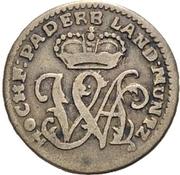6 Pfennig - Wilhelm Anton von Asseburg – avers