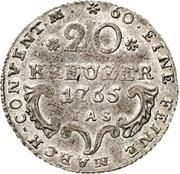 20 Kreuzer - Wilhelm Anton von Asseburg (Konventionskreuzer) – revers