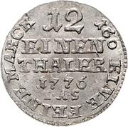 1/12 Thaler - Wilhelm Anton von Asseburg – revers