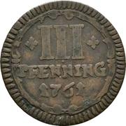 3 Pfennig (Sede Vacante) – revers