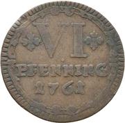 6 Pfennig (Sede Vacante) – revers