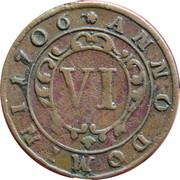 6 pfennig Franz Arnold – revers