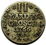 2 mariengroschen Wilhelm Anton – revers