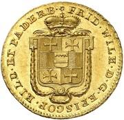 1 ducat Friedrich Wilhelm de Westphalie – avers