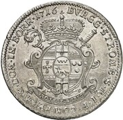 1 Thaler - Franz Arnold von Metternich – revers
