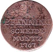 1 Pfennig - Wilhelm Anton – revers