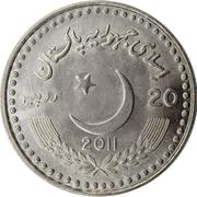 20 roupies (relations entre la Chine et le Pakistan) – avers