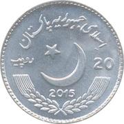 20 roupies (Année d'échanges amicaux Pakistan-Chine) – avers