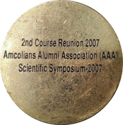 Medal - Army Medical College (2nd Course Reunion) – revers
