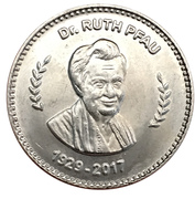 50 roupies DR. Ruth pfau – revers