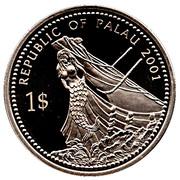 1 Dollar (Moorish Idol Fish) – avers