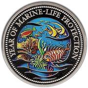 1 dollar (Année de la protection de la vie marine) – revers