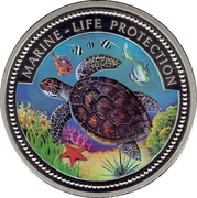 1 Dollar Palaos Marine-life Protection – revers