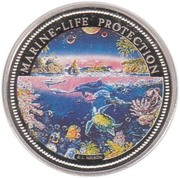 1 dollar (protection de la vie marine) – revers