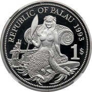 1 Dollar (Ocean Scene - Palladium Essai) – avers