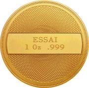 1 Dollar (Ocean Scene - Gold Essai) – revers