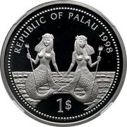 1 Dollar (Bottle-nose Dolphin - Palladium Essai) – avers