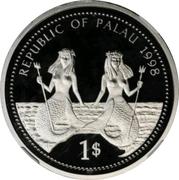 1 Dollar (Bottle-nose Dolphin - Platinum Essai) – avers