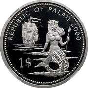 1 Dollar (Lionfish and Parrotfish - Palladium Essai) – avers