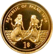 1 Dollar (Bottle-Nose Dolphin; Gold Proof Issue) – avers