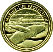 1 Dollar (Sperm Whale; Gold Proof Issue) – revers