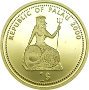 1 Dollar (Shipwreck; Gold Proof Issue) – avers