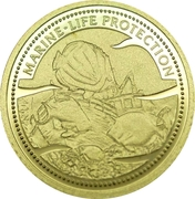 1 Dollar (Shipwreck; Gold Proof Issue) – revers