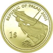 1 Dollar (Jellyfish; Gold Proof Issue) – avers