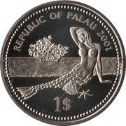 1 Dollar (Glittering fish) – avers