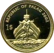 1 Dollar (Pufferfish; Gold Proof Issue) – avers