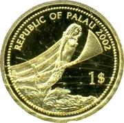 1 Dollar (Blue-powder Surgeonfish; Gold Proof Issue) – avers
