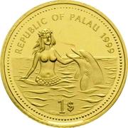 1 Dollar (Manta Ray; Gold Proof Issue) – avers