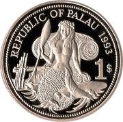 1 dollar (protection de la vie marine) – avers