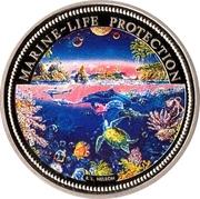 1 dollar (protection de la vie marine) – revers
