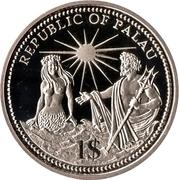 1 dollar (indépendance) – avers