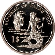 1 Dollar (Lion & Parrotfish) – avers