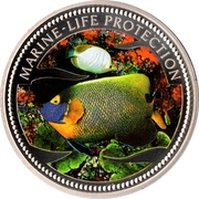 1 Dollar (Blue Gilled Angelfish & Butterfly-Fish) – revers