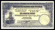 10 Palestine Pounds – avers