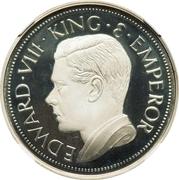 Sovereign - Edward VIII (silver) – avers