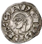 Dinero Sanche V buste primitif à gauche – avers